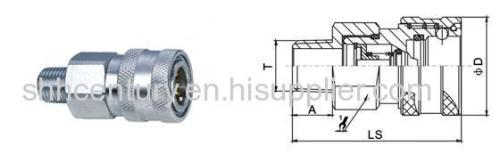 Male Thread ISO7241-A Hydraulic Quick Release Coupling Parker 6600 Faster ANV Interchangeable
