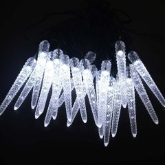 Solar Powered Christmas Light 16.4ft 4.8meters 20 LED 8Modes Icicle corn solar fairy String Lights for Outdoor