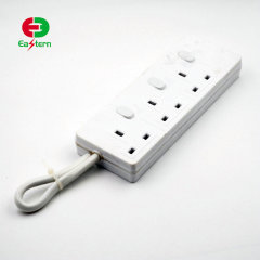 UK Power Strip 3 Outlet Surge Protector wifi Power Strip with 4 USB Charging Ports