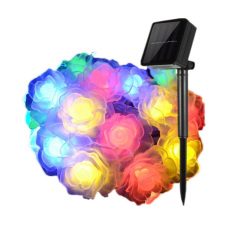 20 LED Waterproof Solar String Light Rose Solar Fairy String Lights for Christmas Garden Patio Wedding Party Fence Home