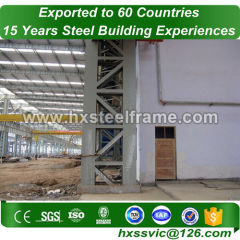 Main steel structure and lightweight steel frame hot sale in Benin