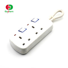 Top quality 2 way surge protector 2 USB charge UK power strip extension socket