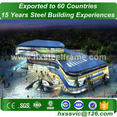 metal fabrication work formed wide span building with ISO faultlessly assembly
