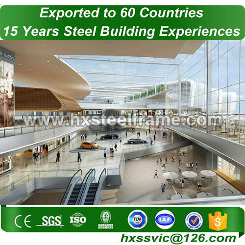 metal frame material formed steel buildings az with CE for Asia client