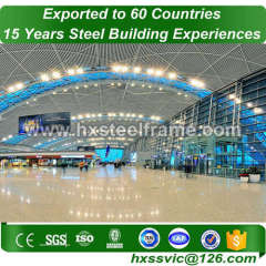 modern steel structures formed pre fab buildings heavy-duty export to Algiers