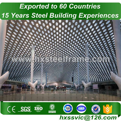 OEM structural steel fabrication formed metal building systems customized