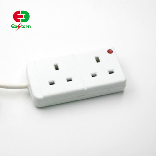 China Supplier 2 Outlet UK EU Style Electric Socket Led Power Strip