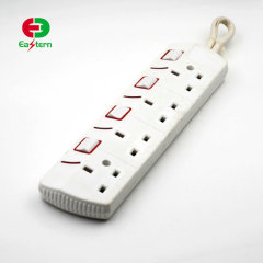 power strip 4 way extension cord multiple socket with switch