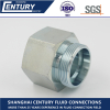 H Type 24 Degree GAI-R Metric Male To Bspp Female Thread Hydraulic Female Connector Fitting