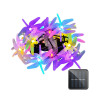 20 LED Dragonfly Shaped String Lights Two Lighting Mode and Solar Energy for House Party Festival Decor(multicolour)