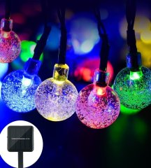 Bubble shape 20LED Outdoor String Light Solar Starry Christmas Party multicolor led fairy Lights