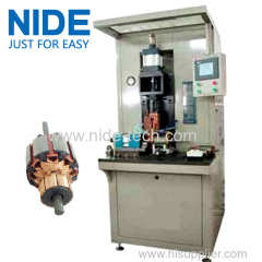rotor commutator spot welding hot stacking machine