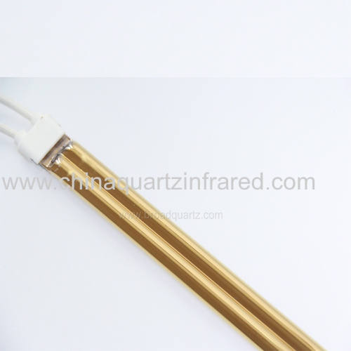Medium Wave Gold twin tube Quartz Tube Infrared Emitters for Textile Lamination