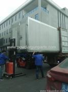 horno de recubrimiento en polvo de gas que exporta a ecuador