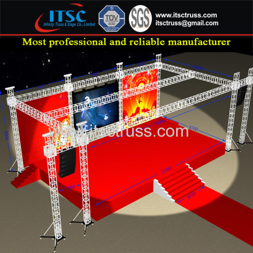 Lighting Trussing Roofing 16x10x8m