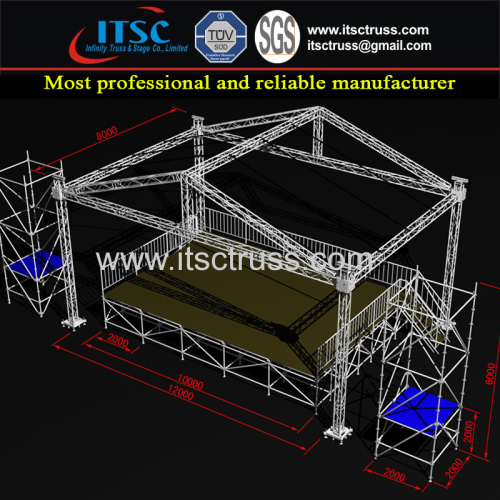 Aluminum Trussing Lighting Truss Mobile Stages Scaffolding Towers System