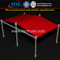 Red PVC Cover Lighting Trussing 24x12x8M Custom Roofing Trussing