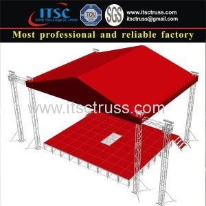 Red Aluminum Stage Lighting Trussing System for Trinidad and Tobago