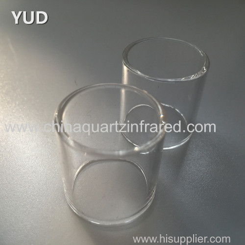 Heat resistant silicate quartz glass tube