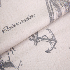 200gsm printed faux linen fabric