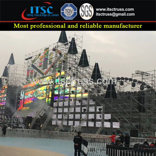 Lighting Truss System with Ringlock Scaffolding System for Concerts
