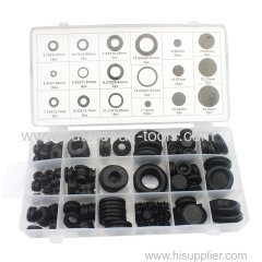 125 PC Rubber Grommet Assortment O-Ring Kit