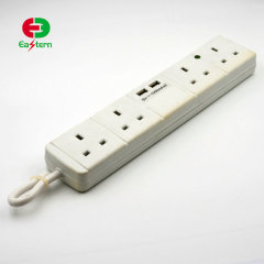 4 way power strip with 2 USB charging port