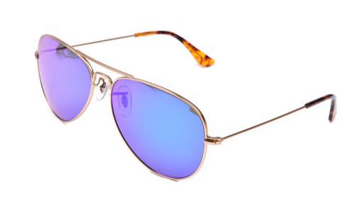 Metal polarized sunglasses aviator sun sunglasses