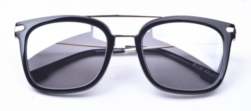 Combination acetate and metal sunglasses