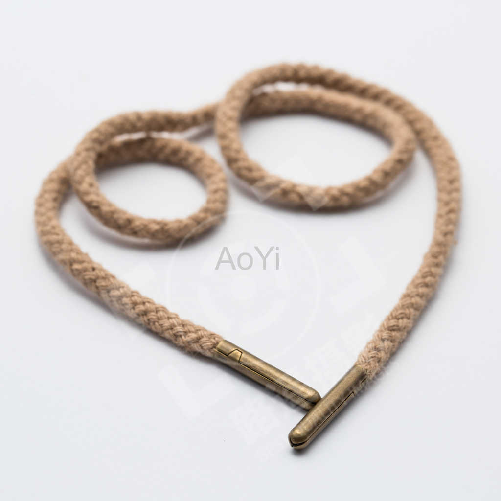 Round Shoelace with Metal bullet tips