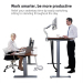 adjustable height office desk with remote control