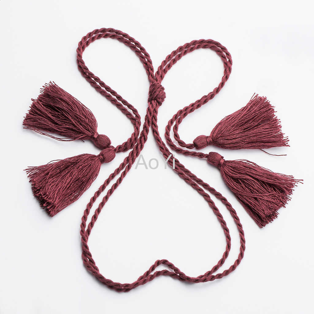 Crochet Braided beaded Tassel