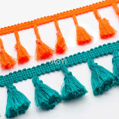 Cotton Braided Tassel for decoration cotton tassels