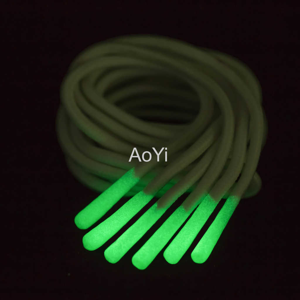 soft polyester elastic drawcord with reflective color and silicone tips