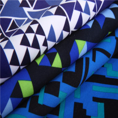 trigle pattern digital printed fabric