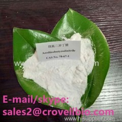 top purity hot selling 2 2'-AZOBIS(2-METHYLPROPIONITRILE) 78-67-1 cas AIBN AIBN CASNo78-67-1 C8H12N4 products