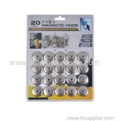 """20 Pcs 1-1/2"""" Magnetic Hook"""