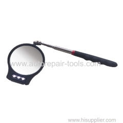3-1/6'' Dia.Round Inspection Mirror W/3 Led Lights