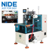 Automatic single phase motor double side stator coil winding lacing machine