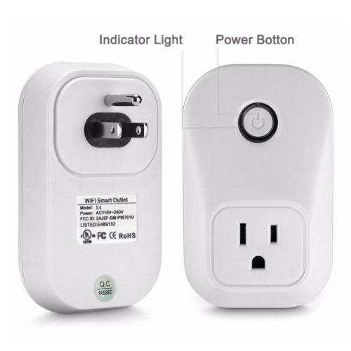 LaneTop Mini Smart Plug Wi-Fi Enabled Works with Amazon Alexa and Google Assistant X4 US