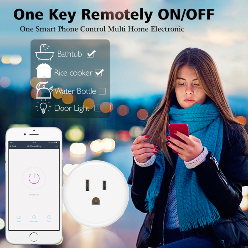 LaneTop Mini WiFi Smart Outlet Timing Switch Energy Monitoring No Hub Required X6 US