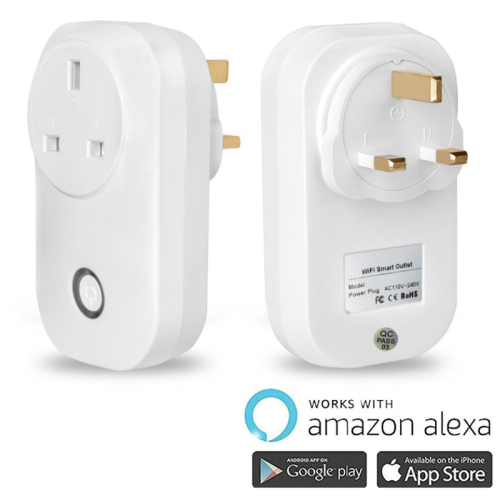 Smart WiFi Socket Outlet Compatible with Amazon Alexa Google Assistant Electronics Controller X4 UK