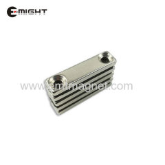 Sintered NdFeB Strong Magnet Countersink Block magnet Rare Earth Permanent Magnet hole Neodymium Magnets