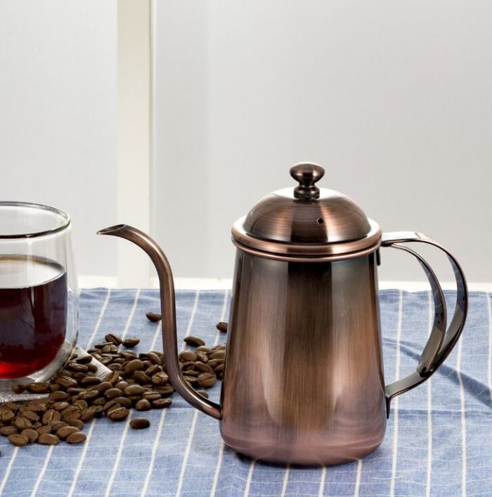 Stainless Steel Long Mouth Coffee Pot Manufacturers And