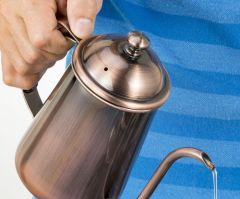 Stainless Steel Long Mouth tea Pot