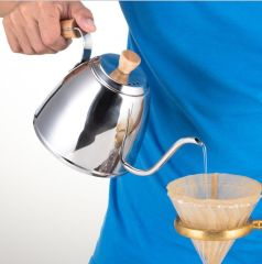 stainless steel long spout pour over coffee pot