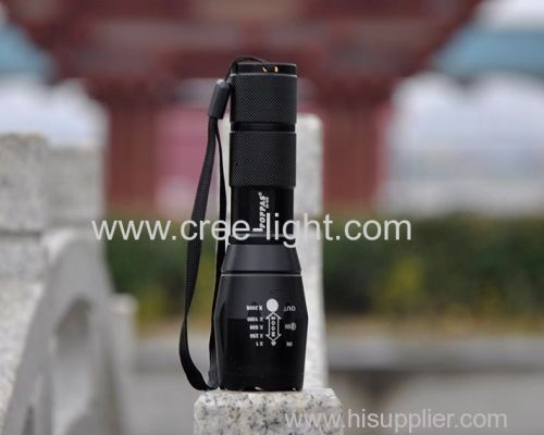 G700 Xm-L T6 LED Tactical Zoomable Flashlight