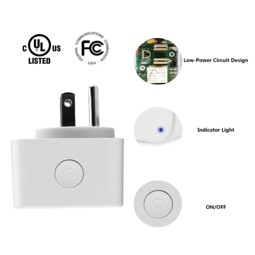 Mini Smart Wifi Socket Support Amazon Alexa & Google Home X2 US]
