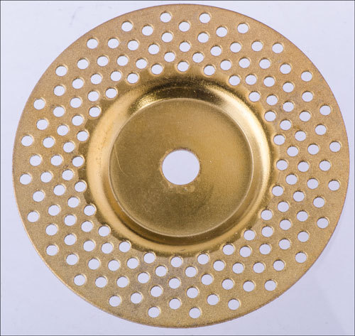 Electroplated diamond grinding wheel depressed center