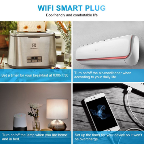 EU Standard WIFI Wireless MINI Smart Socket Outlet No Hub Required